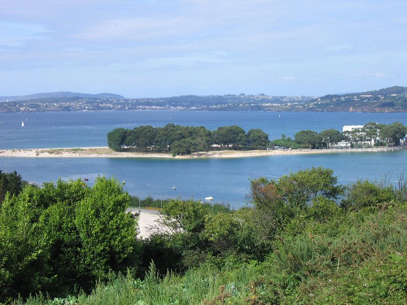 Ático con terraza y vistas al mar en A Coruña